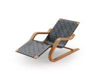 Aufenthaltsraum-Stuhl auf weißem Hintergrund Lizenzfreies Stockfoto