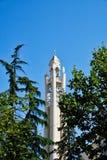Auferstehungs-Kathedralen-Glockenturm und Helm, Tirana, Albanien stockfoto