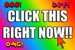 Auffällige Farben Clickbait stock abbildung