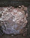 Auffallende Blasen im Abschluss herauf Ansicht Stockbild