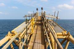 Aufflackern über Meer und Himmel Lizenzfreies Stockfoto