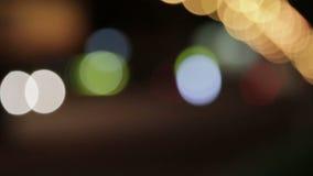 Aufflackern-Nachtampeln HD stock video