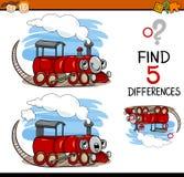 Aufgabe des Findens der Unterschiedkarikatur stock abbildung