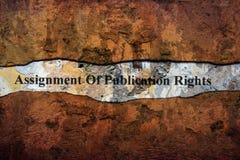 Aufgabe des Verlagsrechts simsen auf Wand lizenzfreies stockbild