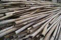 Aufgebaut unter Verwendung des Bambusses stockfotografie