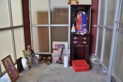 Aufgeben der Zahl von Buddha stockfotos