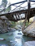 Aufgegebene Brücke Stockfotos