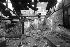 Aufgegebene Fabrik Stockfotos