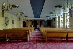Aufgegebene Kapelle - verlassenes Veteranen-Krankenhaus - Cleveland, Ohio stockbild
