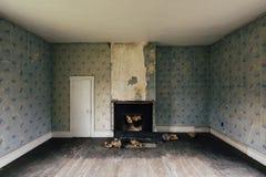 Aufgegebener Raum - verlassener Dudley Snowden House - Appalachen - Kentucky Lizenzfreies Stockfoto