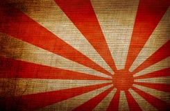 Aufgehende Sonnejapan-Flagge Stockfotos