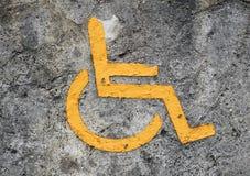 Aufgehoben nur für Behinderte Stockbild