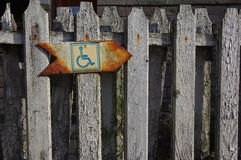 Aufgehoben nur für Behinderte Lizenzfreies Stockbild