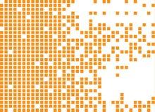Aufgelöste gefüllte Quadrat punktierte Vektorikone stock abbildung