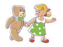 Aufgeleuchtet, Teddybär! Lassen Sie uns gehen. lizenzfreie stockfotos