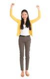 Aufgeregte asiatische Frau Lizenzfreie Stockfotos
