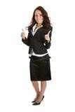 Aufgeregte Geschäftsfrau, die Erfolg feiert Stockfotos