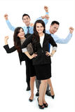 Aufgeregte Gruppe Geschäftsleute Stockfoto