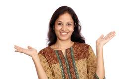 Aufgeregte indische Frau Lizenzfreie Stockfotografie