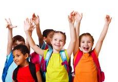 Aufgeregte Schule gealterte Kinder Stockfotografie