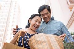 Aufgeregte Senioren Lizenzfreie Stockbilder