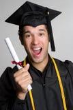 Aufgeregter Absolvent Lizenzfreies Stockfoto