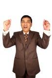 Aufgeregter indischer Geschäftsmann. Lizenzfreies Stockbild
