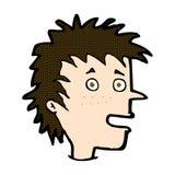 aufgeregter Junge der komischen Karikatur Stockbild