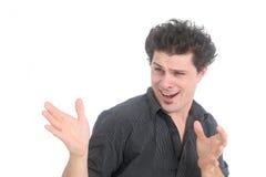 Aufgeregter junger Mann Lizenzfreies Stockfoto