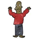 aufgeregter kahler Mann der Karikatur Lizenzfreie Stockbilder