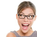 Aufgeregtes Frauenschauen Lizenzfreies Stockbild