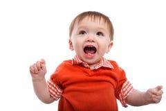 Aufgeregtes junges Baby Stockfotografie