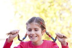 Aufgeregtes und glückliches Mädchen Lizenzfreie Stockfotografie