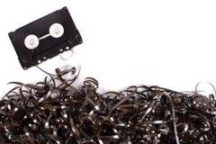 Aufgerolltes Magnetband für Tonaufzeichnungen Lizenzfreie Stockbilder