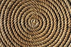 Aufgerolltes Seil Stockbilder