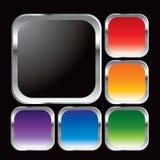 Aufgerundete Metallfelder mit mehrfachen Farben vektor abbildung