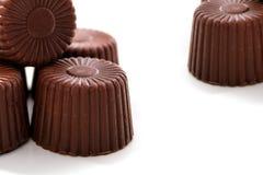 Aufgerundete Schokolade Stockfoto
