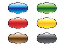 Aufgerundete varicoloured Tasten lizenzfreie abbildung