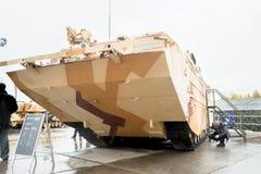 Aufgespürte amphibische Fördermaschine PTS-4 Russland Stockbild