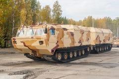 Aufgespürte Fördermaschine DT-30P1. Russland Lizenzfreie Stockfotos