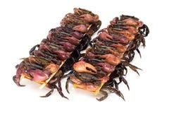 Aufgespießte Krabben für das Essen stockfoto