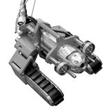 Aufgespürter Roboter Stockfoto