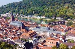Draufsicht des Heidelbergs, Deutschland stockbild