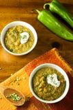 Aufgeteilte Erbsen-Suppe Stockfotos