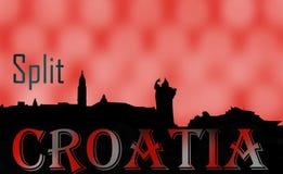 Aufgeteilte Gedächtnisse Kroatiens stockbild