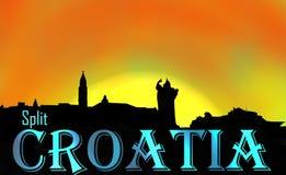 Aufgeteilte Gedächtnisse Kroatiens stockfotografie