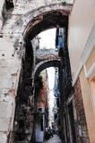 Aufgeteilte ` s alte Stadt, SPALTE, KROATIEN lizenzfreies stockbild