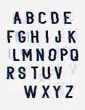 Aufgeteilte Störschub-Buchstaben lizenzfreie abbildung