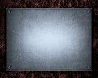 Aufgetragene metallische Aluminiumplatte nützlich für backgro Stockfotos