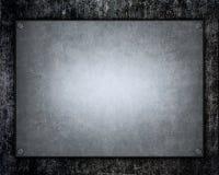 Aufgetragene metallische Aluminiumplatte nützlich für backgro Stockfoto